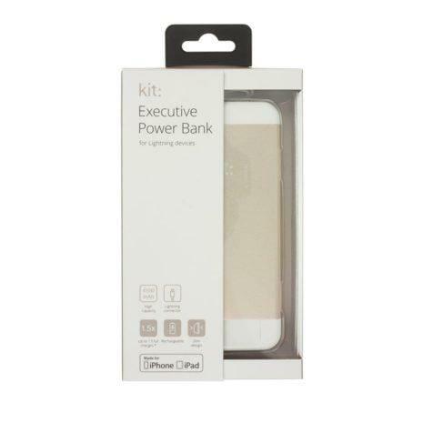 KIT Powerbank 4100mAh MFI Lightning 2,1A Golden