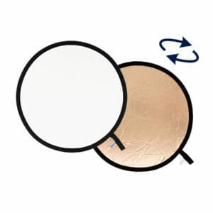 Lastolite Collapsible Reflector 1.2m Sunfire / White